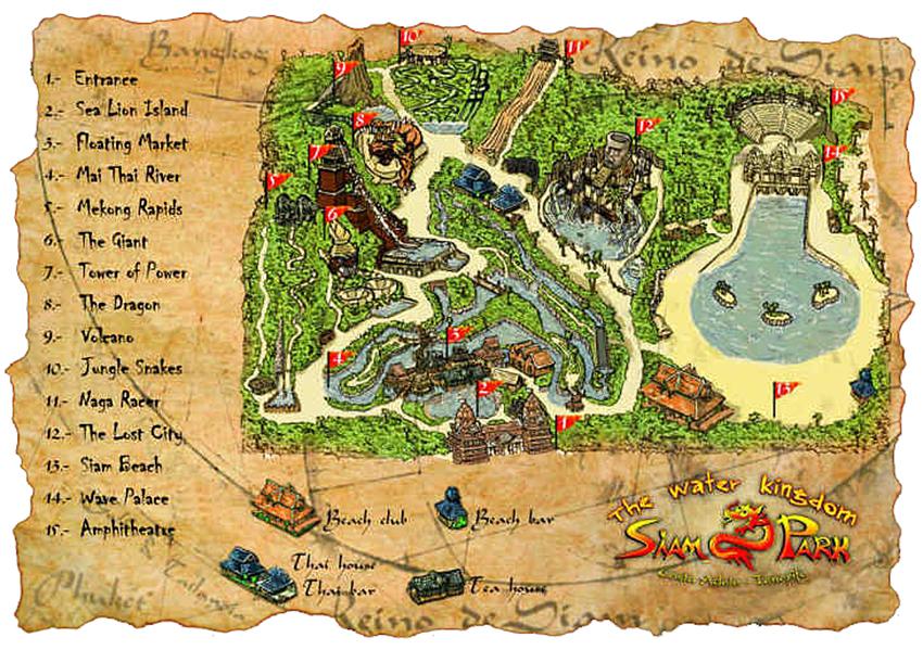 Siam Park Map