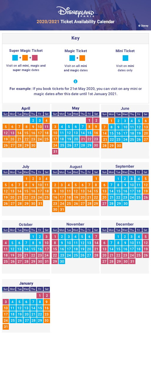 2018 Seasonal Pricing Calendar
