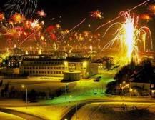 Bonfire And Fireworks - Reykjavik
