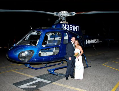 Theme Parks Vegas Nights Helicopter Wedding