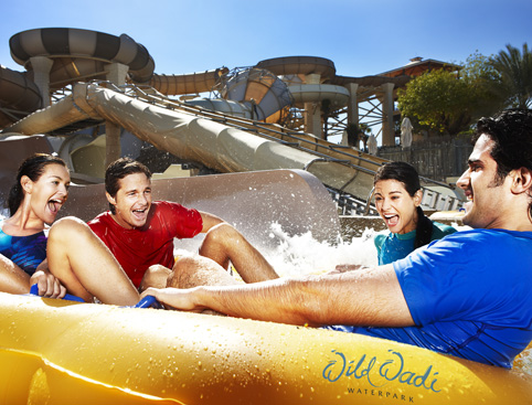 Wild Wadi Water Park family in ride