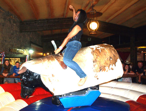 Bucking Bronco at West BBQ in Lanzarote