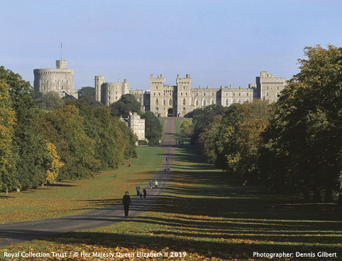 Windsor Castle From The Long Walk