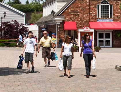 Woodbury Common Outlets Trip- People Shopping