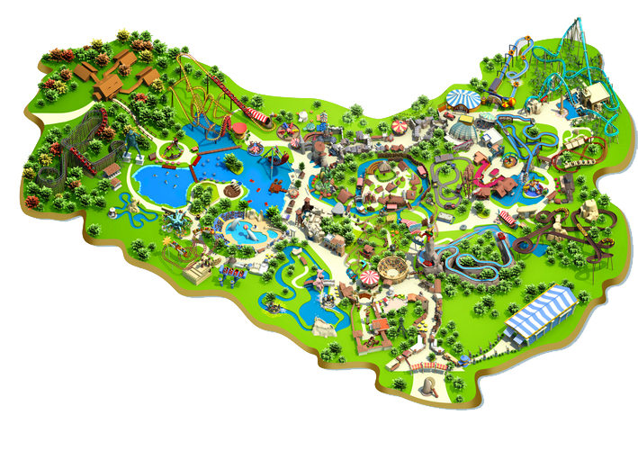 Parc Asterix Map