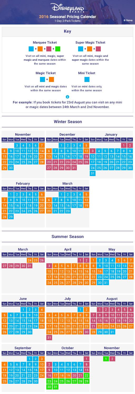 2016 Seasonal Pricing Calendar