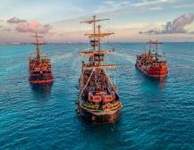 Captain Hook Pirate Ship Cancun: Surf & Turf Dinner